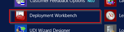 Start Deployment Workbench