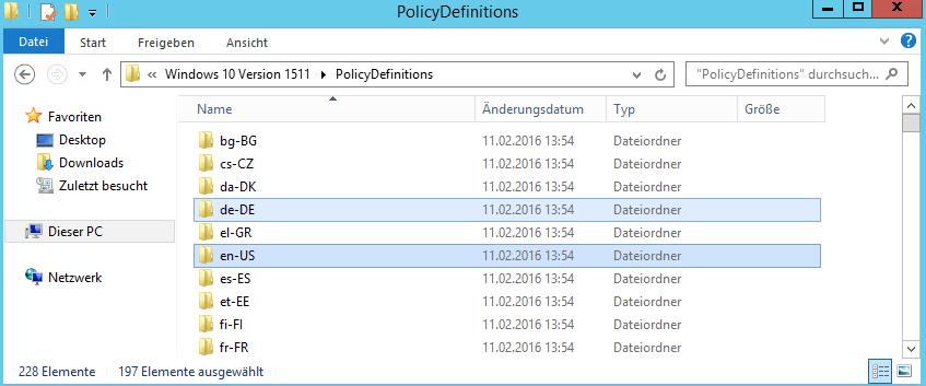 Windows 10 Gruppenrichtlinien