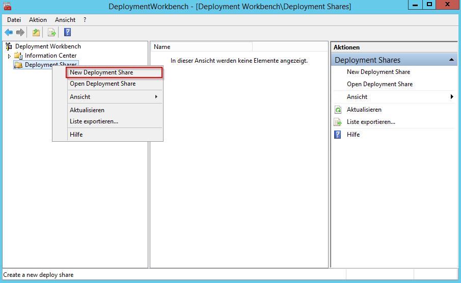 Configure MDT DeploymentShare - 1