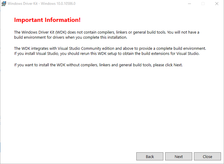 Dpinst - WDK installieren 3