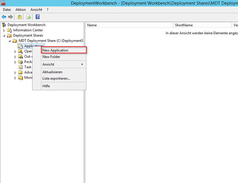MDT 2013 - Anwendung in Tasksequenz installieren - 1