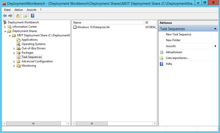 MDT 2013 - Anwendung in Tasksequenz installieren - automatisch 1