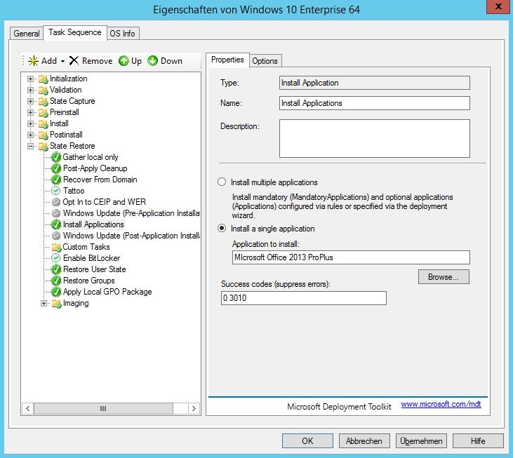 MDT 2013 - Anwendung in Tasksequenz installieren - automatisch 5